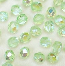 4mm Fire Polished, Peridot AB - 50
